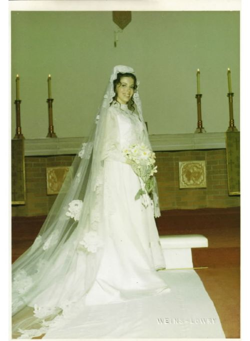 Leslie L. Vogel as a beautiful bride.