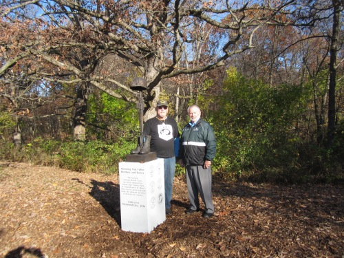 Bob with Daniel Moran, General Manager of Calumet Park Cemetery, posing with the new tribute memorial honoring those 255 Indiana soldiers who paid the ultimate price in the jungles of Vietnam.